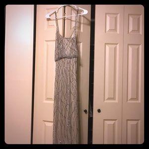 Beautiful champagne silver formal dress